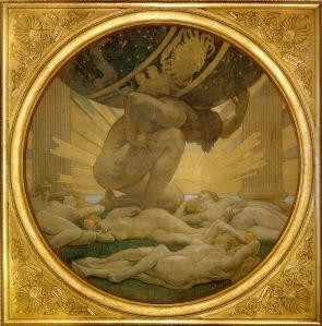 Atlas și hesperidele, de J. Singer Sargent (1925)